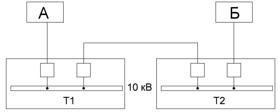 Электроснабжение двух тяговyх подстанций