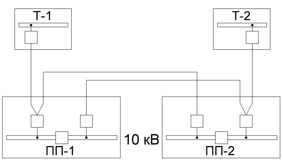 Питание ПП по двум линиям и двум перемычкам